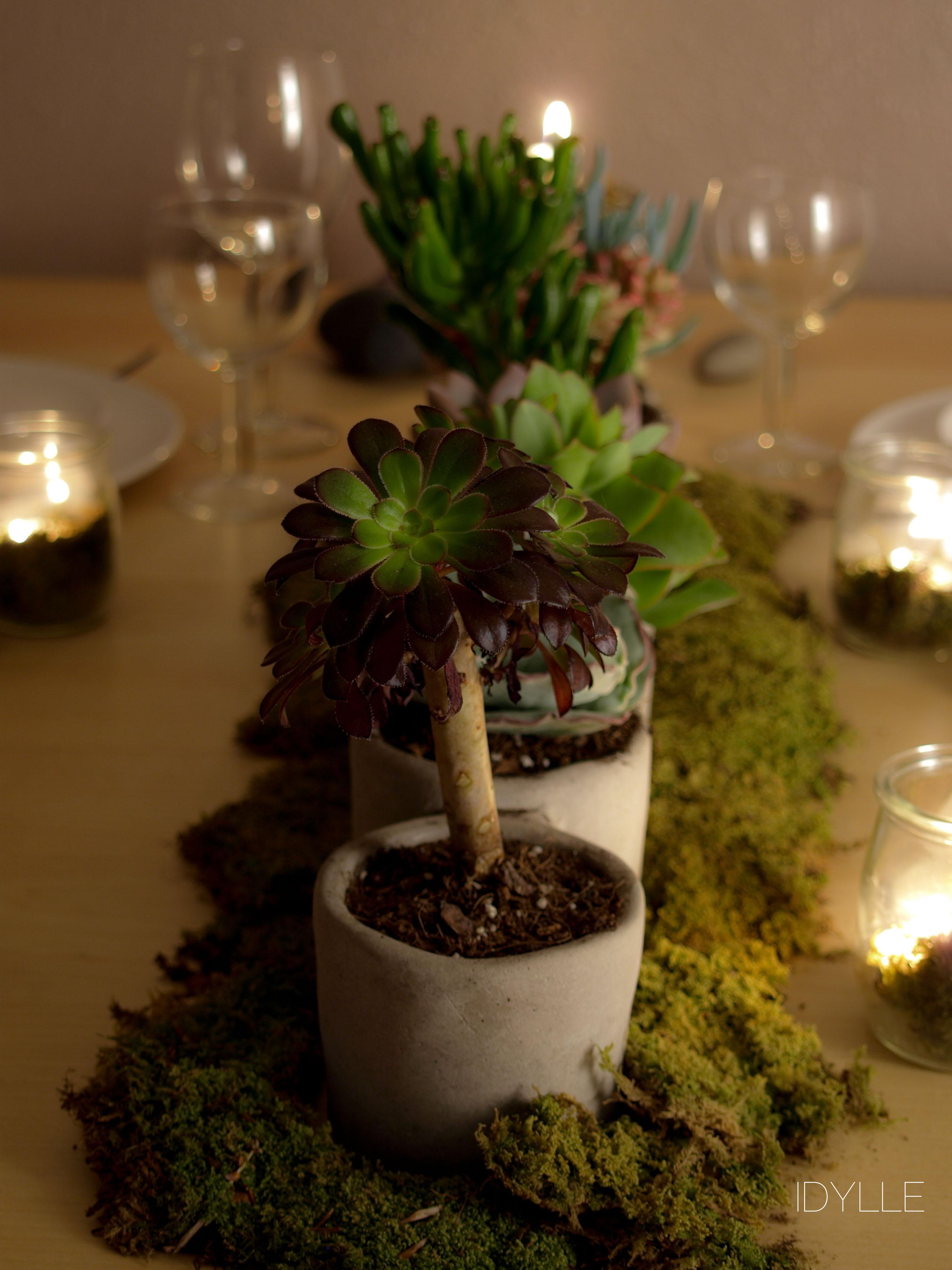Creation v g tale idylle fleuriste - Table plante ...